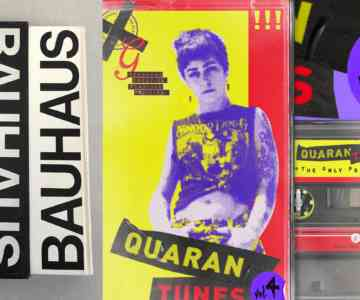 """Yellow and purple cassette tape with a punk woman on the front. Text on the side reads, """"The Only Prescription."""""""
