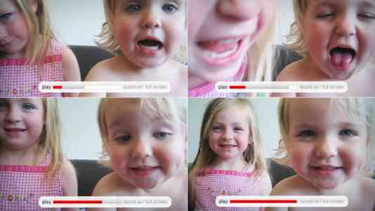 Two toddlers record a video about Horizon milk.