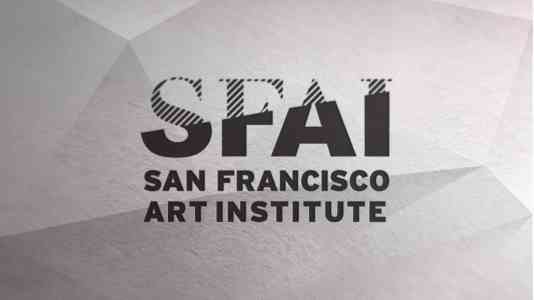 San Francisco Art Institute logo. It uses bold, black text on a light grey background.