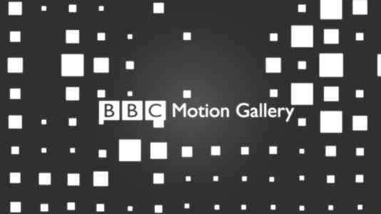The BBC Motion Gallery logo superimposed on a dark grey background with white squares.