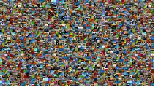 Collage of hundreds of stills from the BBC Motion Gallery.