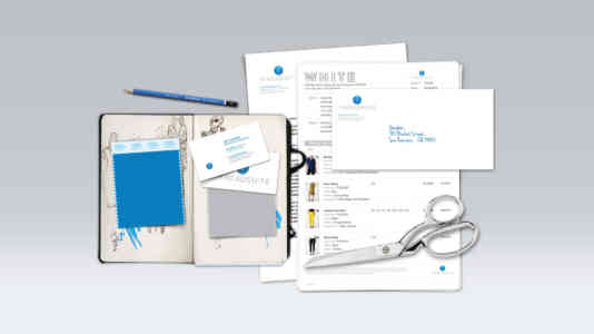 Business card, letterhead, and other assets designed for Threadsuite.